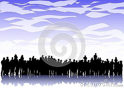 Stor folkmassa