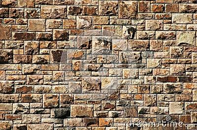 Stor vägg för tegelsten