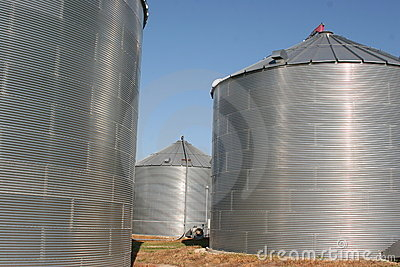 Storage bins waiting for harvest