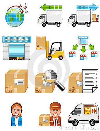 Storage and delivery icons