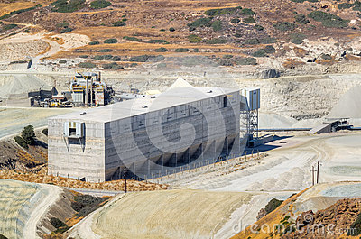 Storage facility of a mining industry