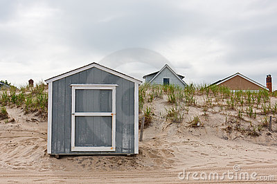 Storage Shed on Beach