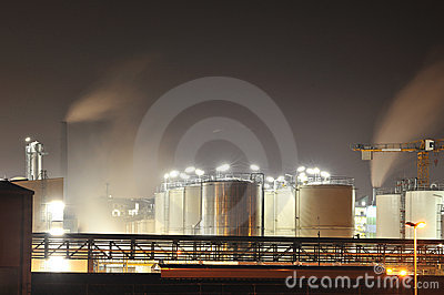 Storage tanks from a Chemical plant