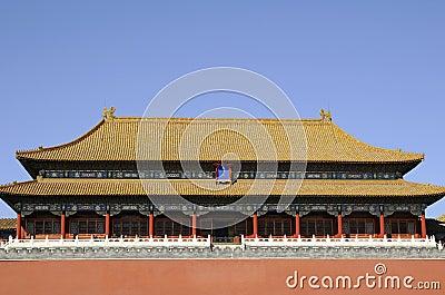 Storartad byggnad av den förbjudna staden