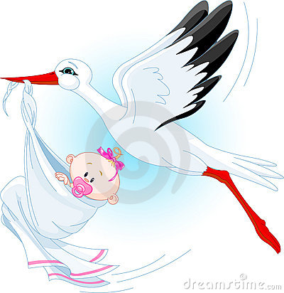 Storch und Schätzchen