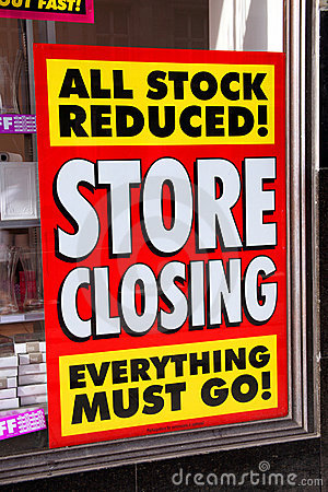 Store closing poster