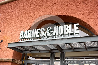 Barnes and Noble bookstore sign Editorial Stock Photo