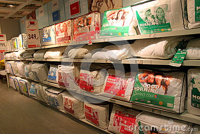 Store pillows Editorial Stock Image
