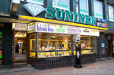 Store of SUNINEN. Lappeenranta. Finland Editorial Photography