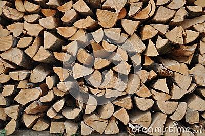 Stored hard wood cut