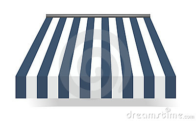 Storefront Awning in blue