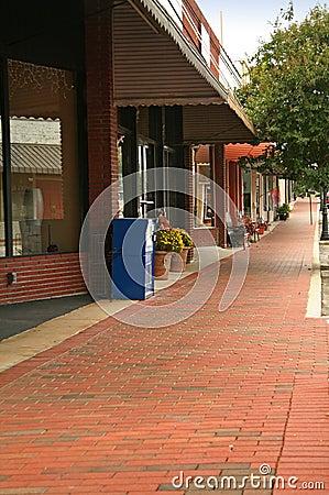 Storefront sidewalk