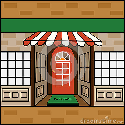 Free Storefront With Welcome Mat Stock Photos - 37173453