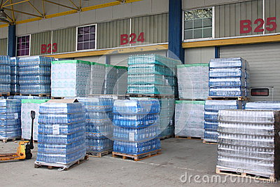 Storehouse of mineral water Editorial Photo
