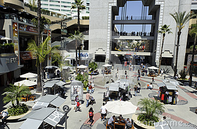 Stores and restaurants in Kodak Theater Editorial Image