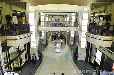 Stores and restaurants in Kodak Theater Editorial Stock Photo