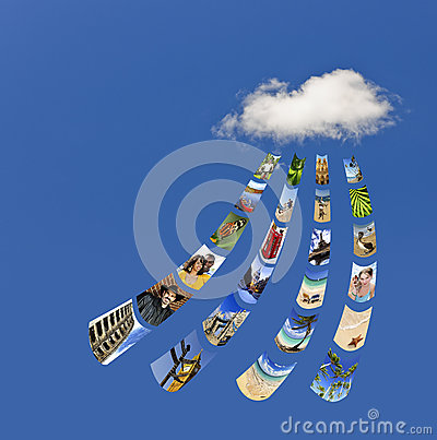 Storing photos on cloud