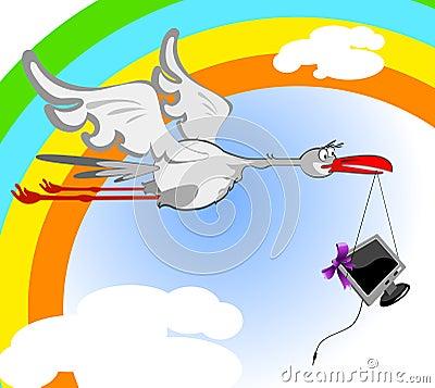 Stork and monitor