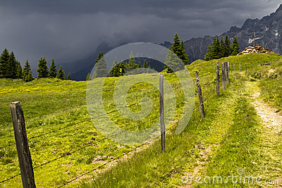 Storm in the Alps
