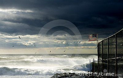 Storm on Atlantic ocean