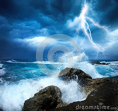 Free Storm Beginning With Lightning Stock Images - 25303754
