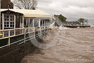 Storm in Buenos Aires Editorial Stock Image