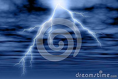Storm Cloud & Lightning