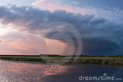 Storm Cloud on the Prairies