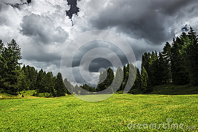 Storm clouds near Karerpass, Dolomites