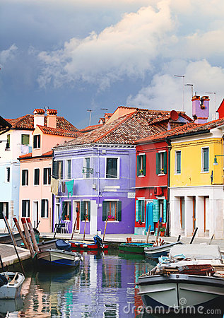 Free Storm Clouds Over Burano Stock Image - 22508611