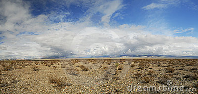 Storm clouds over Mojave Desert