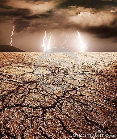 Storm in a desert