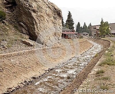Storm drain channel