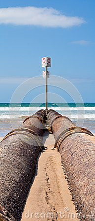 Storm drain pipes, manly beach