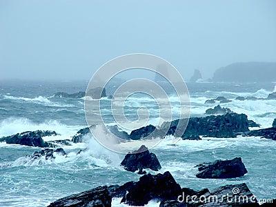 Storm in Newfoundland Ocean