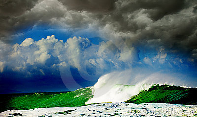Storm In Ocean Royalty Free Stock Photos - Image: 17781518