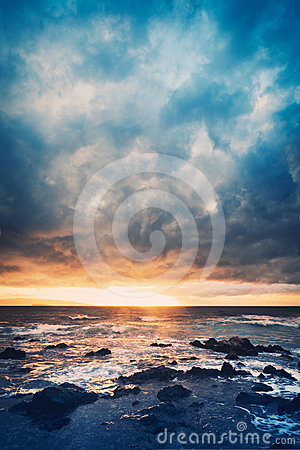 Free Storm On The Sea Stock Photos - 24528433