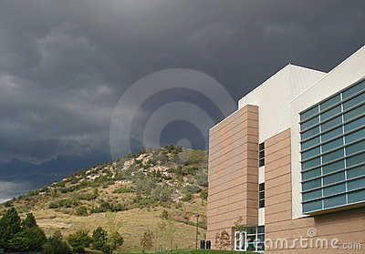 Storm over College Campus
