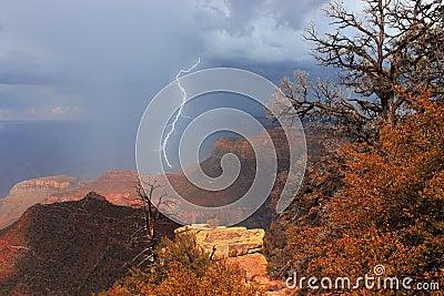 Storm over the Grand Canyon, USA