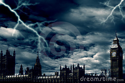 Storm over London