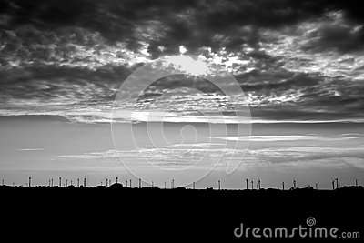 Storm Over Wind Turbines