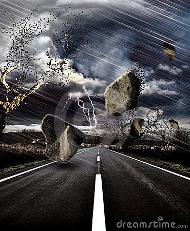 Storm on the road