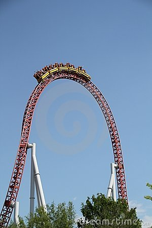 Free Storm Runner Roller Coaster Cresting Royalty Free Stock Image - 19553406