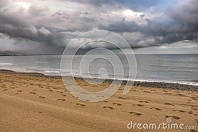 Storm on the sea,Costa del Sol