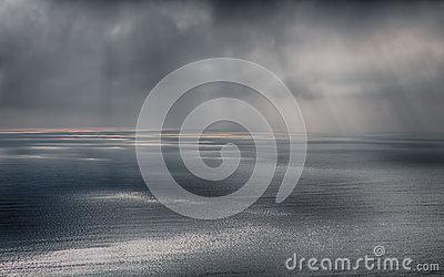 Storm on the sea after a rain