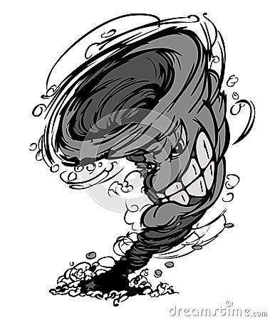 Storm Tornado Mascot