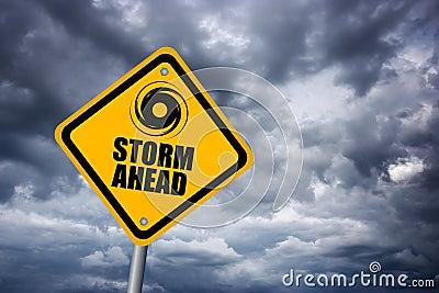 Storm warning sign