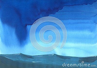 Stormachtig weer op open zee