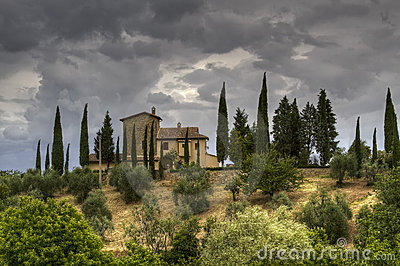 Stormy afternoon in Tuscany