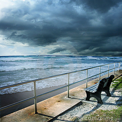 Free Stormy Beach Shore Stock Photo - 9783050